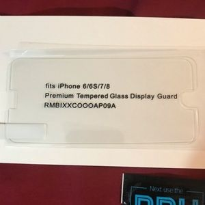 5/$15 iPhone 6/6S/7/8 Temp Glass Screen Protector